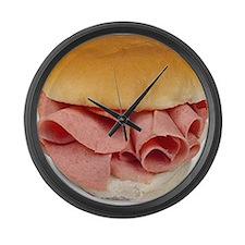 baloney sandwich Large Wall Clock
