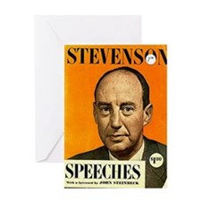 Adlai Stevenson Speech Book Greeting Card