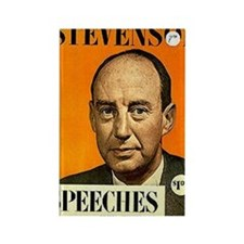Adlai Stevenson Speech Book Rectangle Magnet