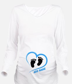 Funny Let me out Long Sleeve Maternity T-Shirt