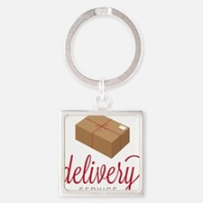 Delivery Square Keychain