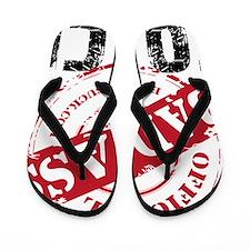 BAD ASS COACH - WHITE Flip Flops