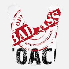 BAD ASS COACH - WHITE Bib