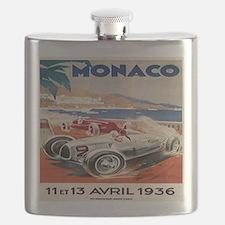 1936 Monte Carlo Grand Prix Poster Flask