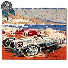 1936 Monte Carlo Grand Prix Poster Puzzle
