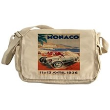 1936 Monte Carlo Grand Prix Poster Messenger Bag