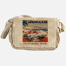 1936 Monte Carlo Grand Prix Poster Messenger Bag