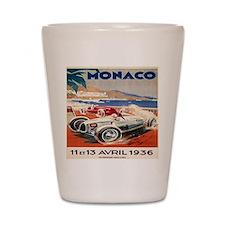 1936 Monte Carlo Grand Prix Poster Shot Glass