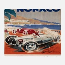 1936 Monte Carlo Grand Prix Poster Throw Blanket