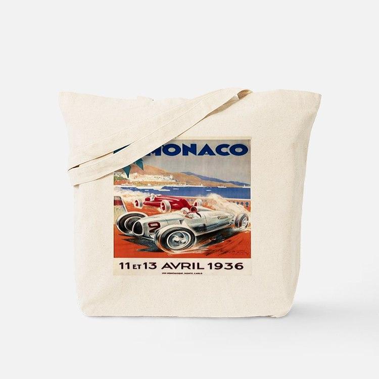 1936 Monte Carlo Grand Prix Poster Tote Bag