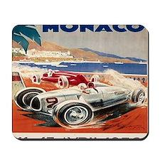 1936 Monte Carlo Grand Prix Poster Mousepad