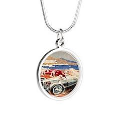 1936 Monte Carlo Grand Prix  Silver Round Necklace