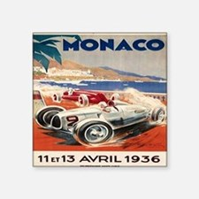 "1936 Monte Carlo Grand Prix Square Sticker 3"" x 3"""