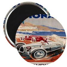 1936 Monte Carlo Grand Prix Poster Magnet
