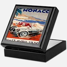 1936 Monte Carlo Grand Prix Poster Keepsake Box