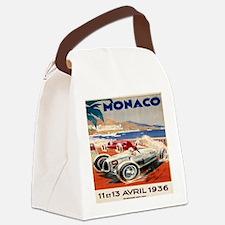 1936 Monte Carlo Grand Prix Poste Canvas Lunch Bag