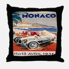 1936 Monte Carlo Grand Prix Poster Throw Pillow