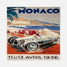 1936 Monte Carlo Grand Prix Poster Queen Duvet