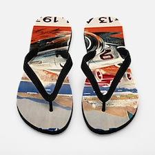 1936 Monte Carlo Grand Prix Poster Flip Flops