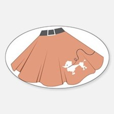 Poodle Skirt Decal