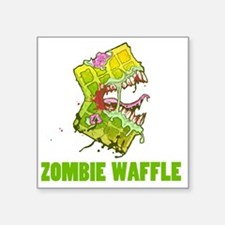 """Zombie Waffle Square Sticker 3"""" x 3"""""""