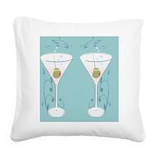 martini flip flops Square Canvas Pillow