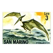 San Marino 1965 Pteranodo Postcards (Package of 8)