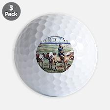 Iceland 1997 Overland Post Mailman Post Golf Ball