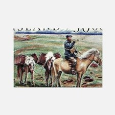 Iceland 1997 Overland Post Mailma Rectangle Magnet