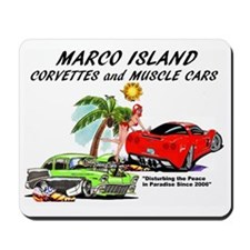 marco island corvettes and muscle cars Mousepad