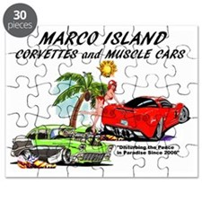 marco island corvettes and muscle cars Puzzle