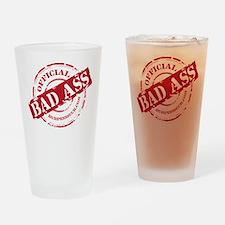 BAD ASS COACH - BLACK Drinking Glass