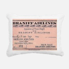 1929 Braniff ticket Rectangular Canvas Pillow