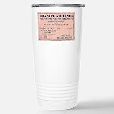 1929 Braniff ticket Travel Mug