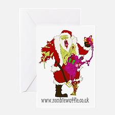 Zombie Santa Main Greeting Card