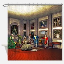 Your photos in a historical art gallery Shower Cur