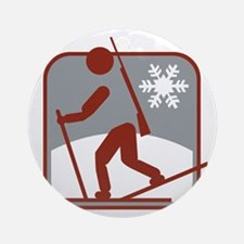 biathlon symbol Round Ornament