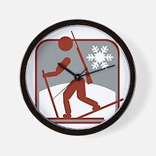 biathlon symbol Wall Clock