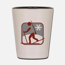 biathlon symbol Shot Glass