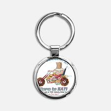 Born to Eat - UFG Biker T-shirt Round Keychain
