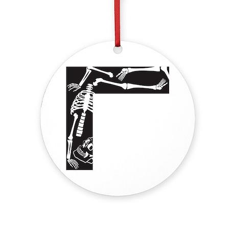 Skeleton Round Ornament