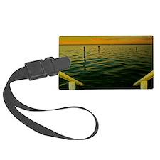 Harbor Sunset Luggage Tag