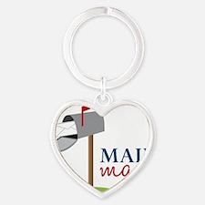 Mail Man Heart Keychain