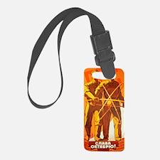 Soviet Atom scifi vintage propag Luggage Tag
