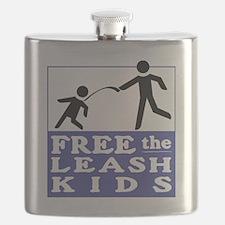 Free the Leash Kids Flask