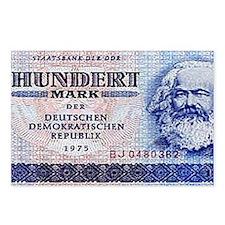 100 East German Marks Postcards (Package of 8)