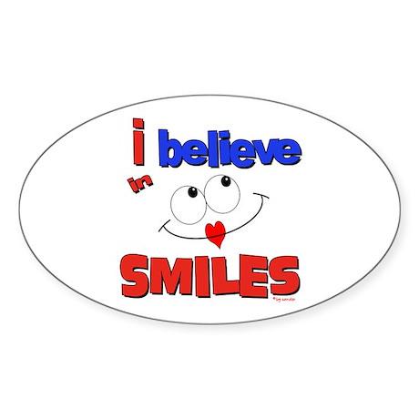 ... smiles Oval Sticker