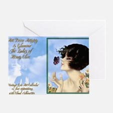 1 A CVR CLIVE BUTTERFLY KISS Greeting Card