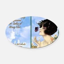 1 A CVR CLIVE BUTTERFLY KISS Oval Car Magnet