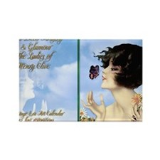 1 A CVR CLIVE BUTTERFLY KISS Rectangle Magnet